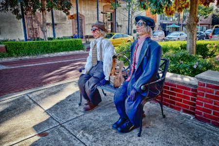 Two Old Men On A Bench