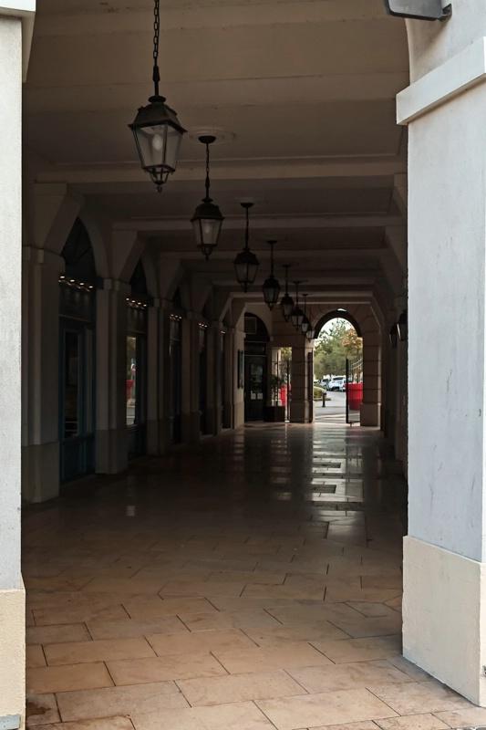 Corridor Through A Building